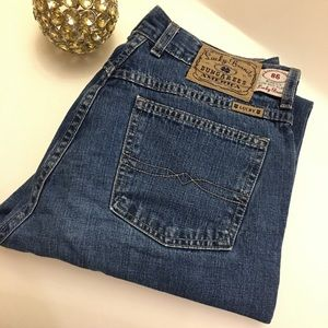 Lucky brand dungarees low rise flare jeans